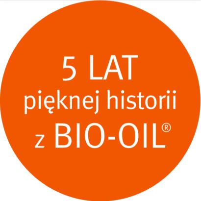 Znaczek_5 lat_pięknej_historii Bio-Oil