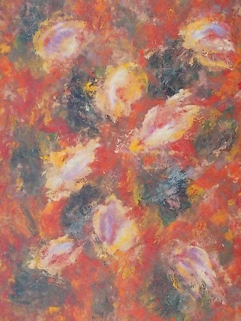 Kompozycja kwiatowa,olej 70x50cm